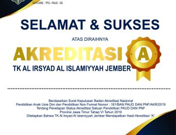 Akreditasi A TK Al Irsyad Jember